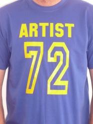Artist 72 Tee: Blue/Yellow